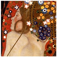 Water Serpents II, c.1907 (detail of woman) Fine Art Print