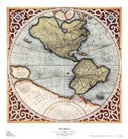 "Terra Major I by Gerardus Mercator - 20"" x 22"""
