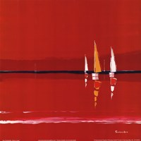 """Heure Rouge by Mali Nave - 12"""" x 12"""""""