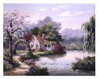 Arbor Cottage Fine Art Print