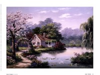 "Arbor Cottage by Sung Kim - 8"" x 6"" - $9.99"