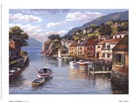 "Village On The Water by Sung Kim - 8"" x 6"""