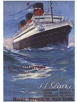 S.S Paris Fine Art Print