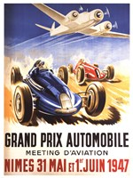 Grand Prix Automobile Nimes Framed Print