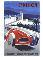 Le Grand Defi Monaco 18 Mars 1990 Fine Art Print