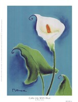 Calla Lily With Blue Fine Art Print