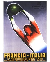 Francia Italia Foot Ball 1935 by T Corbella - various sizes