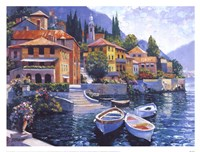 Lake Como Landing Framed Print