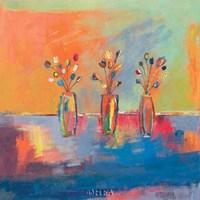 Tres Flores Framed Print