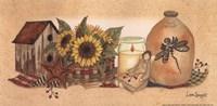 "Rows Sunflowers Aglow by Linda Spivey - 10"" x 5"""