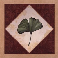 Diamond Leaves II Framed Print