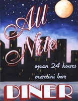 All Nite Diner Framed Print