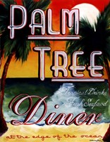 Palm Tree Diner Fine Art Print
