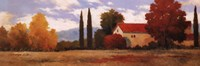 "Burgundy Farmhouse I by Kanayo Ede - 36"" x 12"""