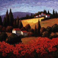 "Tuscan Poppies by Parrocel - 35"" x 35"" - $34.99"