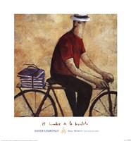El Hombre De La Bicicleta Fine Art Print