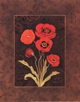 "Damask Poppy - Petite by Paul Brent - 8"" x 10"", FulcrumGallery.com brand"