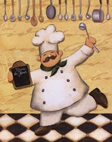 Le Chef Et Le Menu Fine Art Print