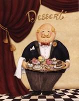 Waiter - Dessert Framed Print