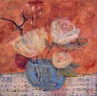 """Blue Vase by Carolyn Holman - 16"""" x 16"""" - $13.49"""