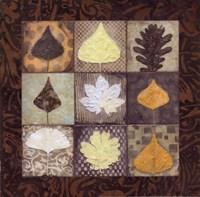 """Leaf Mosaic II by Carolyn Holman - 12"""" x 12"""""""