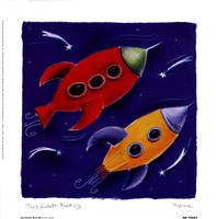 Two Rockets Blast Off Fine Art Print