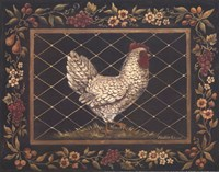 Old World Hen - Mini Framed Print
