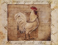 Rustic Farmhouse Rooster I - Mini Fine Art Print