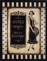 """Paris Dress Boutique by Kimberly Poloson - 22"""" x 28"""""""