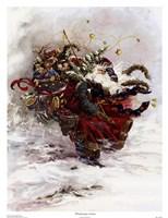 Windswept Santa Fine Art Print