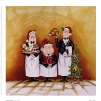 "Christmas Waiters by Tracy Flickinger - 9"" x 9"""