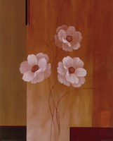Three White Flowers II Fine Art Print