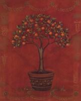 Topiary Fresco Orange Fine Art Print
