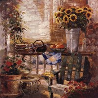 Trina's Potting Bench Fine Art Print