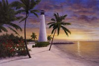 Lighthouse-Key Biscayne Fine Art Print