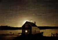 "Cottage Silhouette by Doug Landreth - 36"" x 24"""