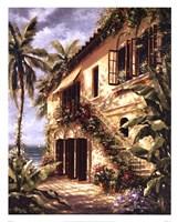 Tropical Villa II Fine Art Print