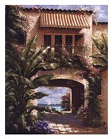 Tropical Villa I Fine Art Print