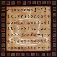 "Coffee Word Search by Kim Klassen - 12"" x 12"", FulcrumGallery.com brand"