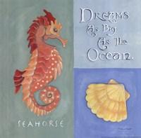 Dreams As Big As The Ocean Framed Print