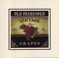 """Vintage Grapes - Special by Kimberly Poloson - 5"""" x 5"""""""