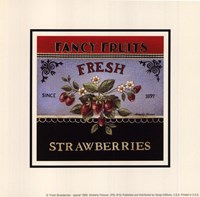 Fresh Strawberries - Special Framed Print