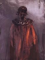 Portrait With a Red Dress Fine Art Print