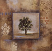 Sunlit Palmetto II Framed Print