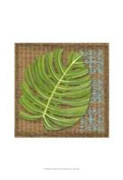 Block Print Palm I Framed Print