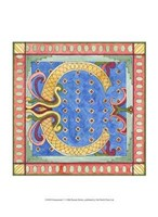 "Ornamental C by Pamela Shirley - 10"" x 13"" - $10.49"