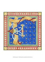 "Ornamental F by Pamela Shirley - 10"" x 13"" - $10.49"