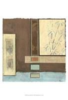 """Chinese Scroll In Blue I by Jillian Jeffrey - 13"""" x 19"""""""