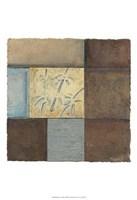 """Bamboo In Blue by Jillian Jeffrey - 13"""" x 19"""", FulcrumGallery.com brand"""