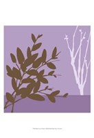 """Metro Leaves In Violet I by June Erica Vess - 13"""" x 19"""""""